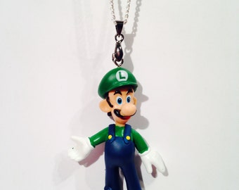 Super Mario Luigi Necklace Pendant