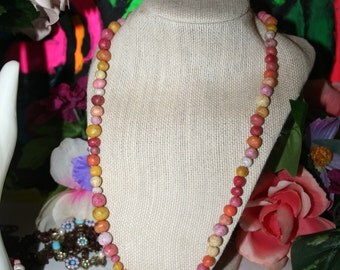 Star Burst Homemade Bead Necklace (Toggle Clasp)