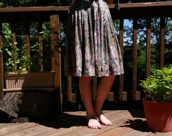 Monet Pastel Floral Skirt (80s, Small)