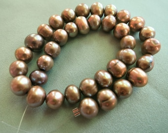 9mm Gray Taupe Freshwater Pearls - 35 Pearls