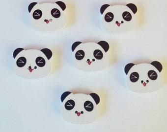 Panda Buttons x 6