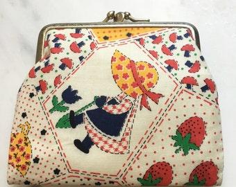 Holly Hobbie Oversized Coin Purse -- 2 sides
