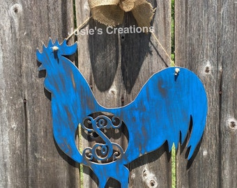 Rooster wall hanger