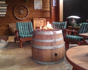 Reclaimed Wine Barrel Fire Pit