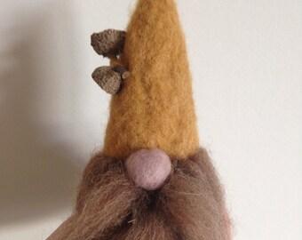 Autumnal Gnome Ooak Soft Sculpture