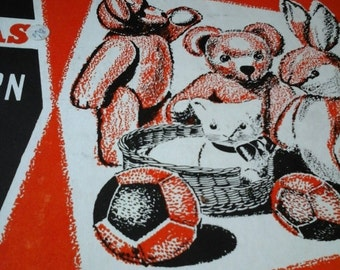 vintage teddy bear pattern