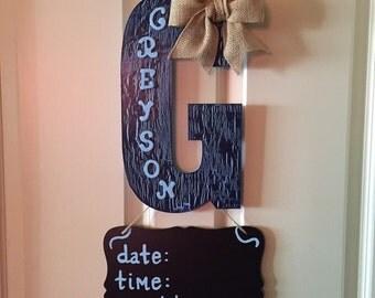 Hospital Baby Door Hanger