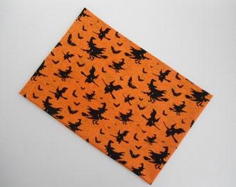 Halloween Pillowcase, Bats Pillowcase, Travel Pillowcase, Witches Pillowcase, Witches & Bats, Pillow Cover, 18x13, Halloween Pillowcase, New