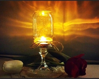 Mason Jar Table Lanterns