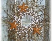 Tri Star Twig & Berry Wreath