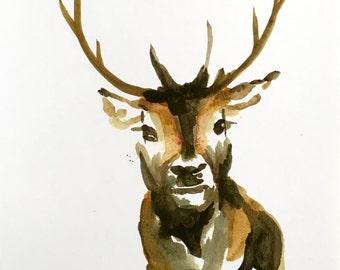 Deer print 5x7