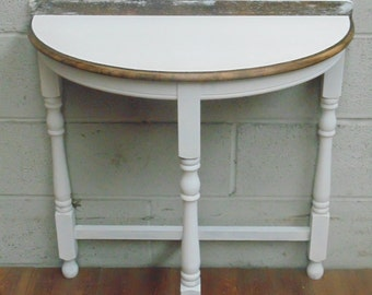 Shabby Chic Demi Lune Hall Table
