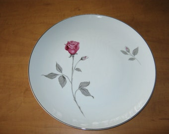 "Vintage Contour Treasure Pink Roses China by Japan ""Chop Plate"""