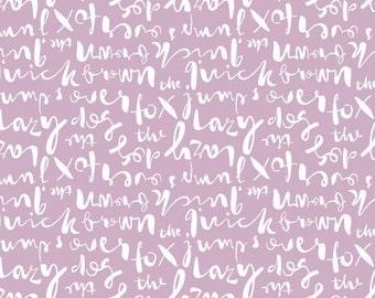 Cloud9 - Typography Lorem Ipsum Lavender - quilting cotton fabric