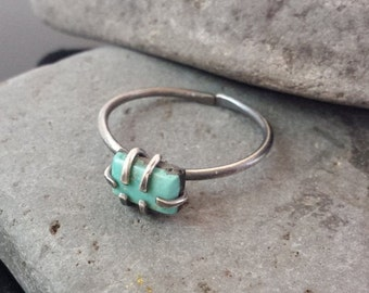 20% OFF Turquoise | Sterling Silver | Adjustable Ring | Size 8
