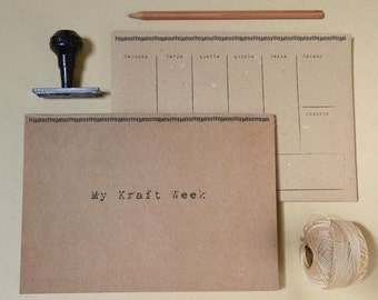 Kraft Weekly Planner - A5 recycled paper