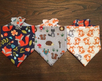 Feeling Foxy Bibdanas (Waterproof/Reversible) for Infants and Toddlers
