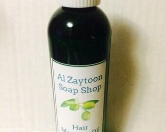 Hair massage oil AKA hot oil hair treatment