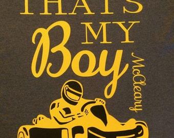 That's My Boy shirt/go kart racer