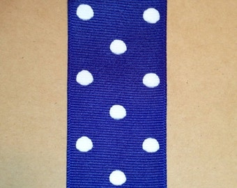 ON SALE 1.5 inch dippy dots grosgrain ribbon