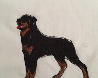 Embroidered rottie t shirt