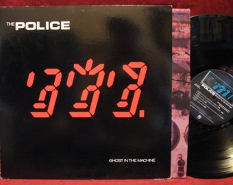 THE POLICE Ghost In The Machine Lp Vinyl Record Album early 80s press no barcode STERLING stamp new wave art rock prog