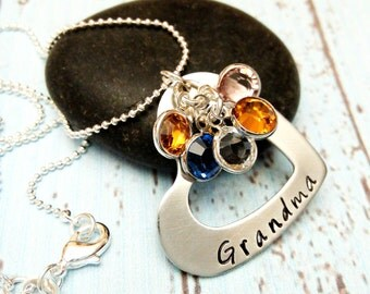 Grandma necklace,Grandma Jewelry,Birthstone Necklace,Grandmother Necklace,Grandmother Jewelry,Grandma Gift,Mom Jewelry,Mom Gift,Mom Necklace