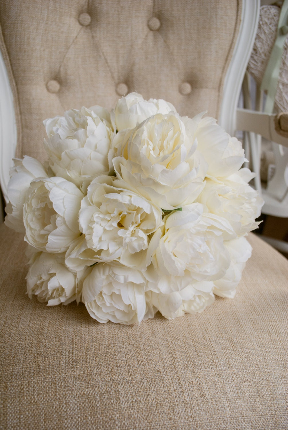 artificial flower bouquets for weddings luxury ivory peony wedding bouquet made with artificial 1372