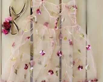 Summer Berry Sun Dress, Newborn baby dress, Photo props, Special Occasions Dress