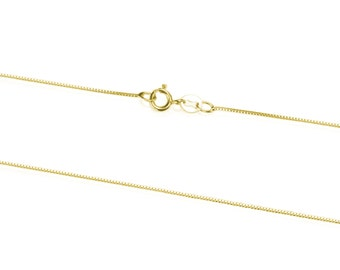 14K Yellow Gold Chain Necklace, Solid Gold Pendant Chain, 42 cm / 16 Inch Gold Chain with Spring Clasp, Women Jewelry Accessories