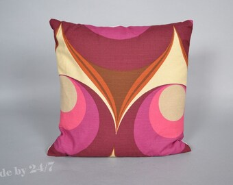 "40 x40 cm ( 16"" x 16"" ) Handmade Pillow cover Purple Retro - mid century  Throw Cushion cover"
