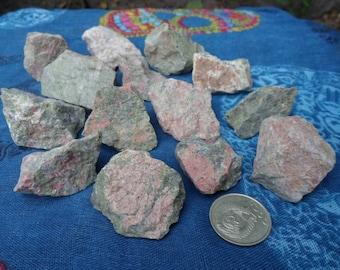 1/2 lb Unakite JasperRough Stones, Epidote, Feldspar
