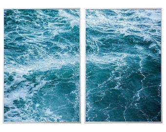 Storm At Sea Twin Prints