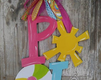 Door Hanger, Pool Decor