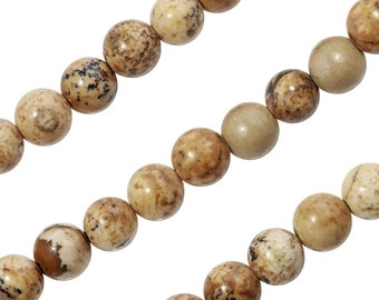 15 1/2 IN Strand 4 mm Picture Jasper Round Smooth Gemstone Beads (PCJ100101)