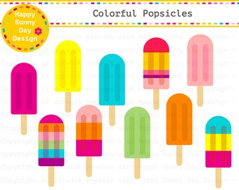 40% off Popsicles / Colorful Popsicles / Fruit Popsicles / Ice Pops Clip Art - Instant Download - C009