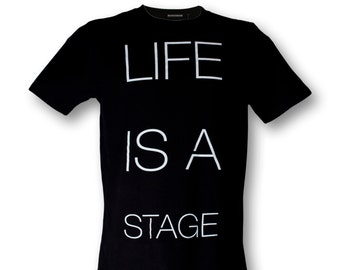 STARLINE LONG t-shirt life is a stage male black