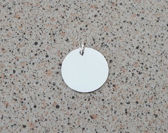 Pack of 2 Sterling Silver Round 16.5mm Blank Disc Tag (0.33mm thick) suitable for stamping/engraving