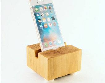 Wood Block Phone Dock
