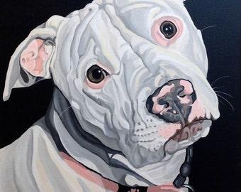Pet Portrait, Custom Pet Portrait, Pet Painting, Custom Dog Portrait, Dog Painting, Pet Lover Gift, From Photograph, Memorial Pet Portrait