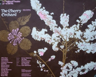 The Cherry Orchard - National Theatre - Old Vic - London - Vintage Poster 1973