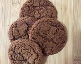 Organic Chewy Ginger Molasses Cookie