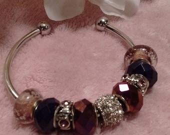 Wine bangle bracelet