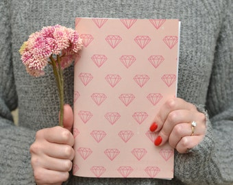 Diamonds Journal - Pretty Notebook - Pretty Journal - Pretty Drawing Book - Pretty Stationary - Cute Notebook - Sketch Book