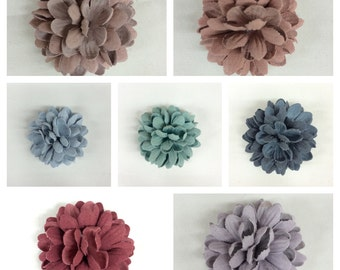 Cute Faux Suede Mini Flower Handmade Price per 7 Pieces