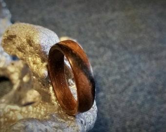 Walnut Bent Wood Ring.   SIZES: 6 7 7.5 8.5 9.5 10.5 11.5 12