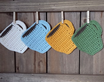 Crochet Coasters / 100% Cotton / Crochet Gifts / Cotton Gifts - Set of 4