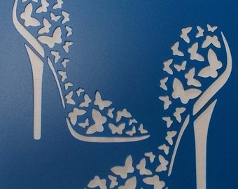 Butterfly Shoes Stencil