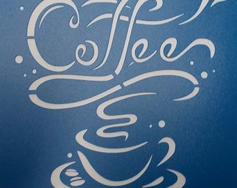 Coffee Time Stencil