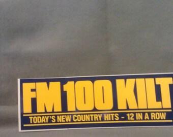 FM 100 KILT Bumper Sticker